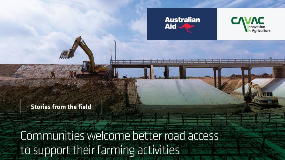 Better Road Access Supports Farming Activities